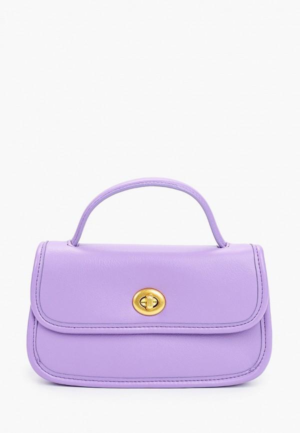 женская сумка с ручками baggini, фиолетовая