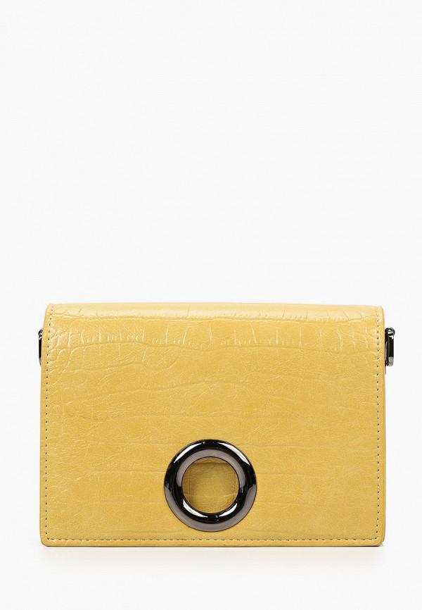 женская сумка через плечо baggini, желтая