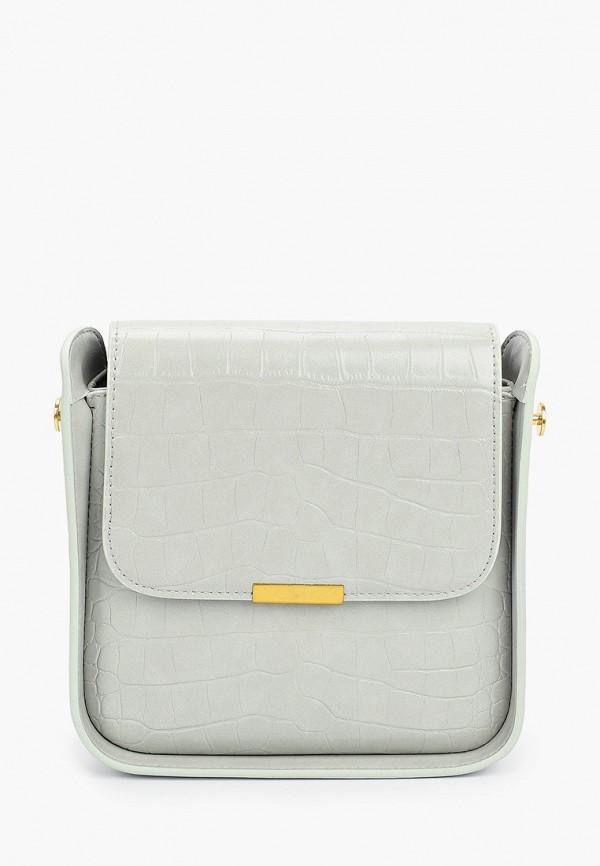 женская сумка через плечо baggini, бирюзовая