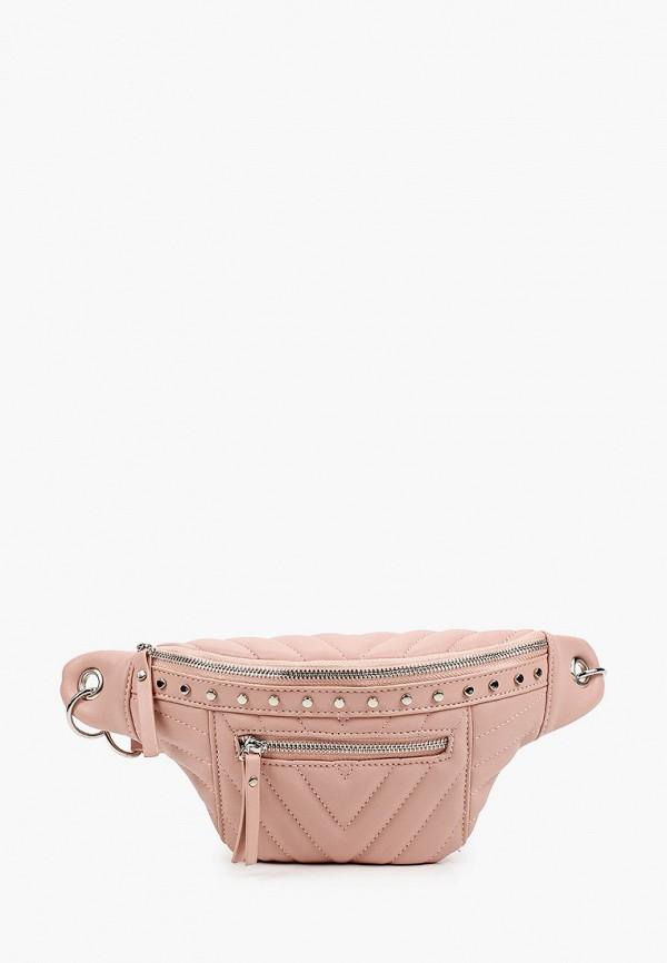 женская поясные сумка baggini, розовая