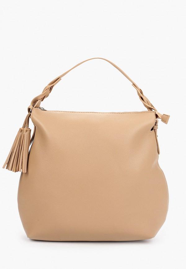 женская сумка-шоперы baggini, бежевая