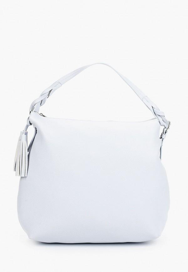 женская сумка с ручками baggini, голубая
