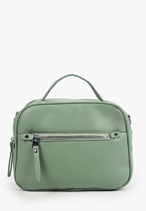 женская сумка с ручками baggini, зеленая