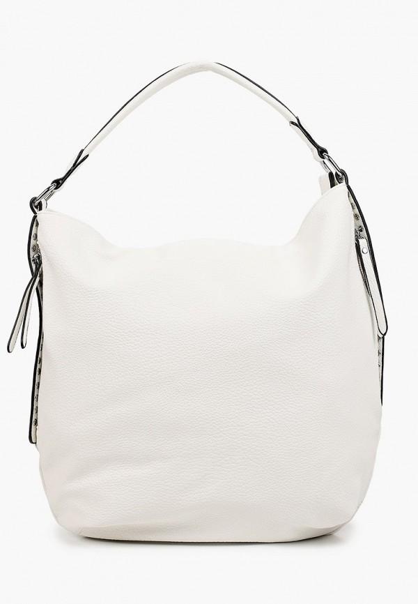 женская сумка с ручками baggini, белая