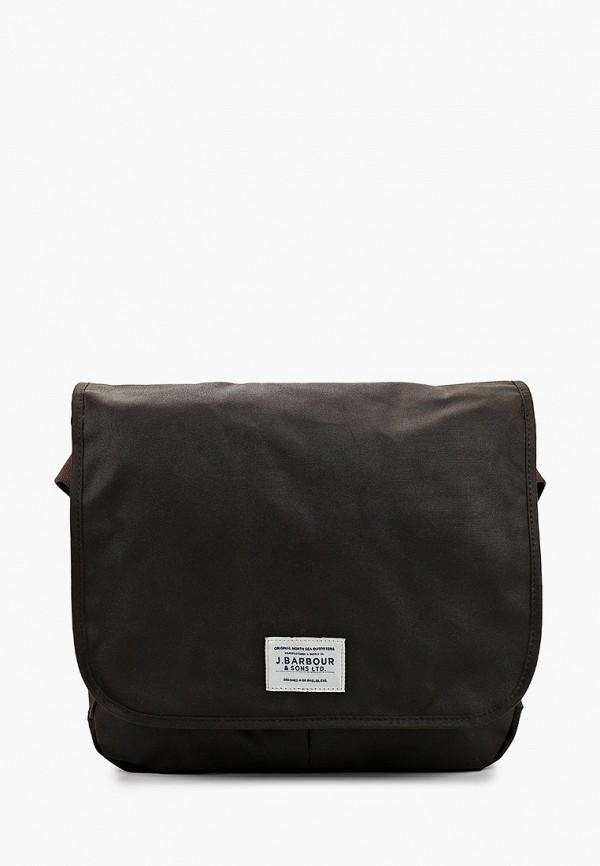 мужская сумка barbour, коричневая