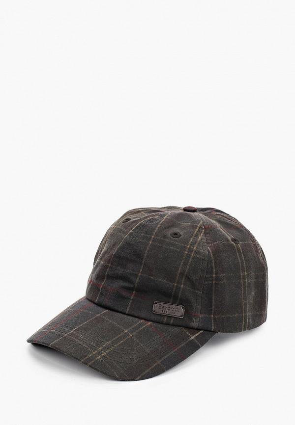 мужская кепка barbour, серая