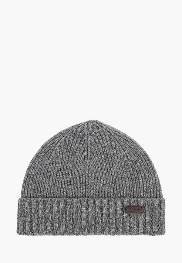мужская шапка barbour, серая