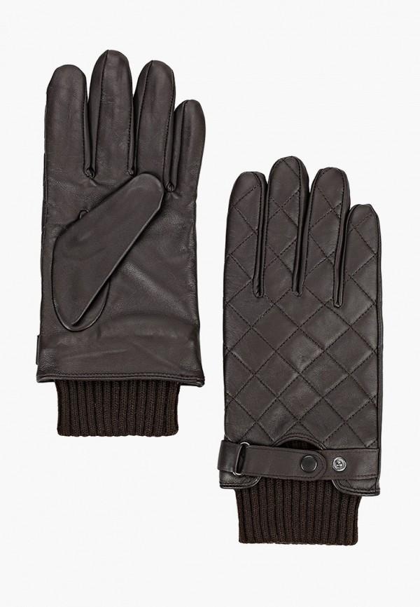 мужские кожаные перчатки barbour, черные