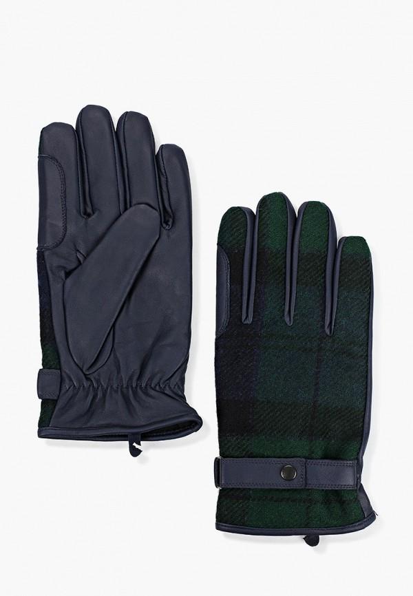 мужские кожаные перчатки barbour, зеленые