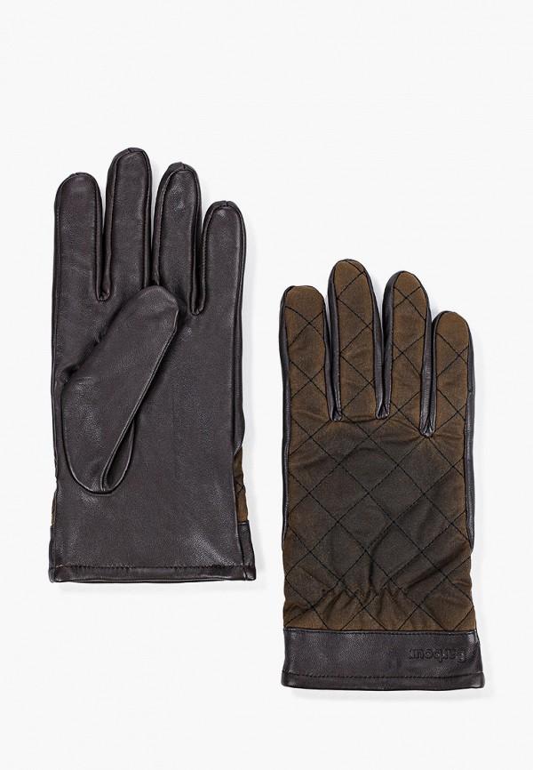 мужские текстильные перчатки barbour, коричневые