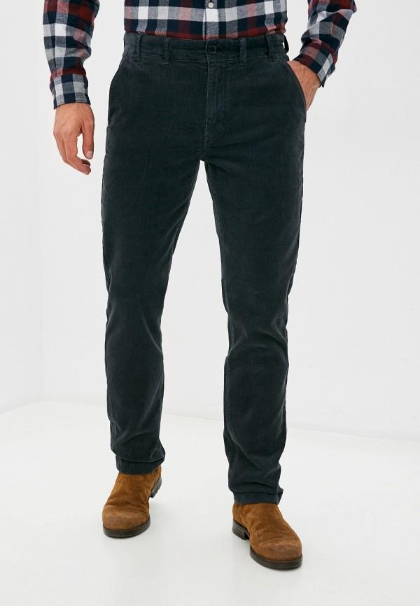 мужские зауженные брюки barbour, серые