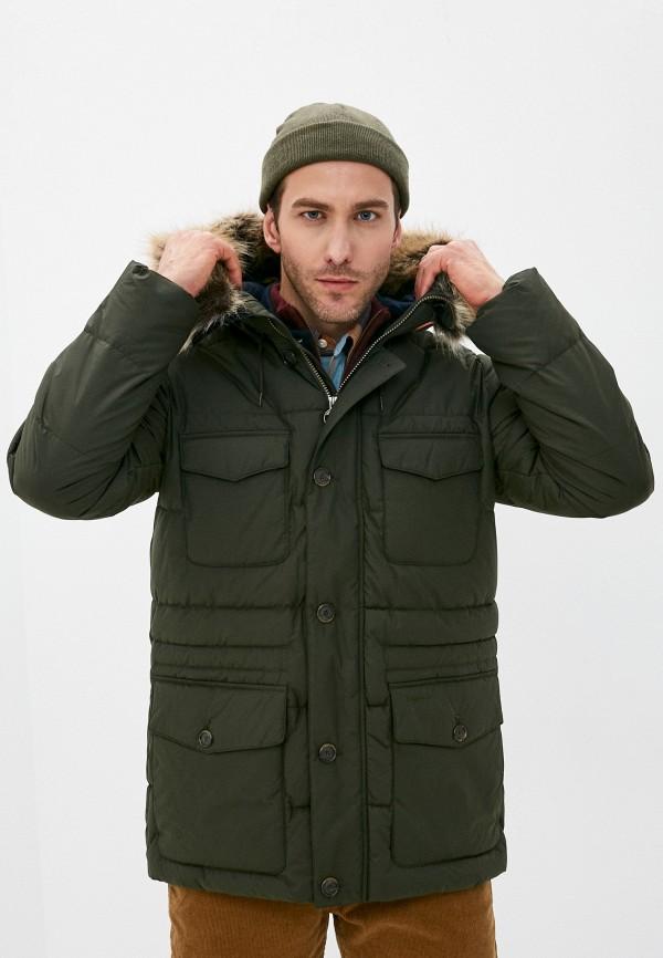 мужская куртка barbour, зеленая