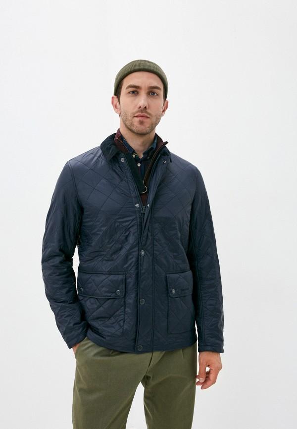 мужская куртка barbour, синяя