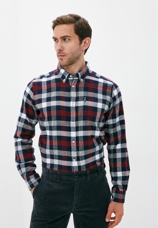 мужская рубашка с длинным рукавом barbour, разноцветная