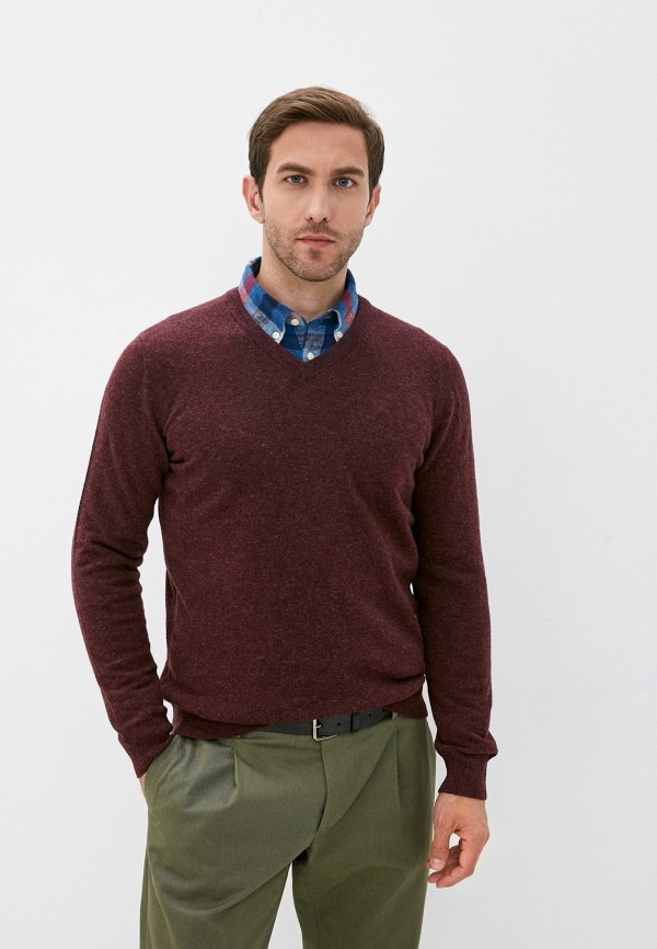 мужской пуловер barbour, бордовый