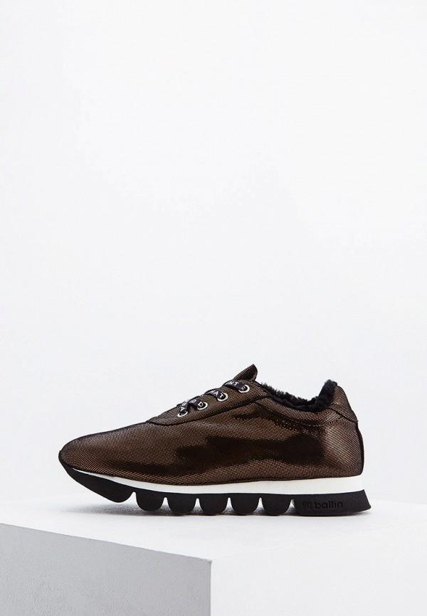 женские кроссовки ballin, коричневые