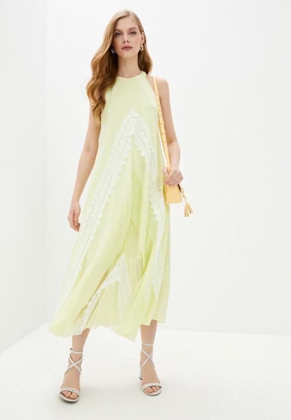 женское повседневные платье barbara bui, желтое