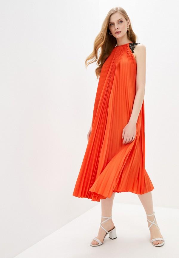 женское вечерние платье barbara bui, оранжевое
