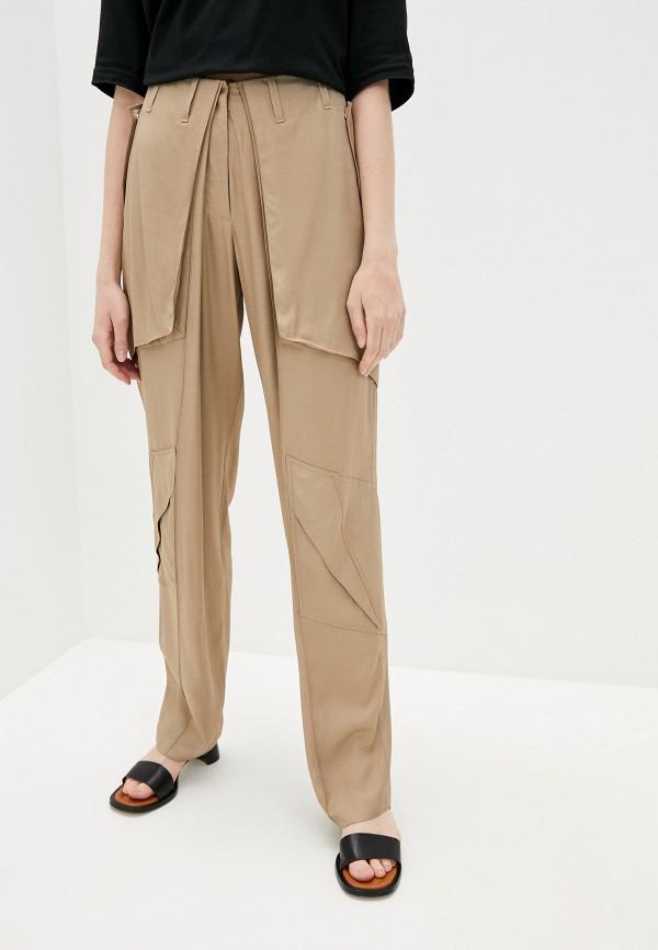 женские повседневные брюки barbara bui, бежевые