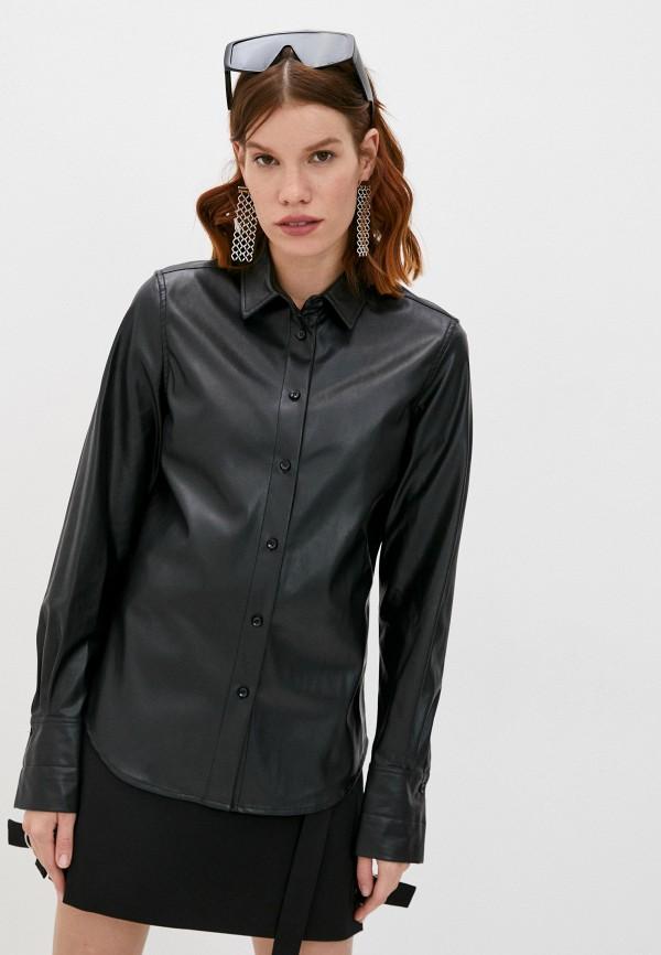 женская рубашка с длинным рукавом barbara bui, черная