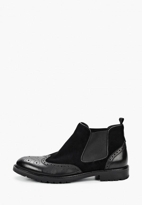 мужские ботинки-челси basconi, черные