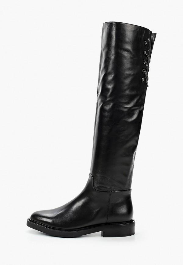 женские ботфорты basconi, черные
