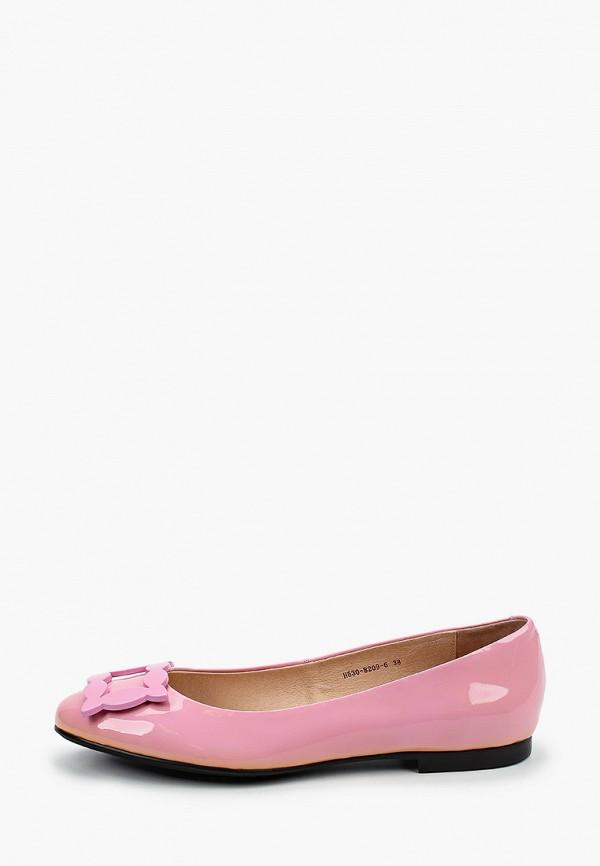 женские балетки basconi, розовые