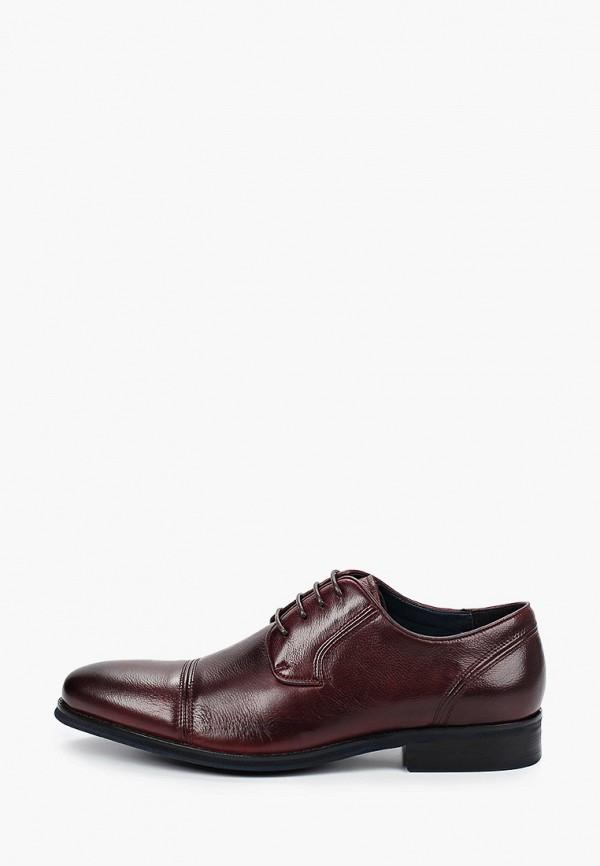 мужские туфли-дерби bata, бордовые