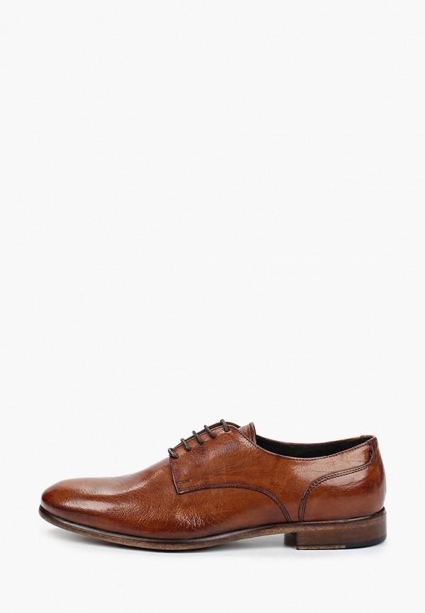 мужские туфли-дерби bata, коричневые