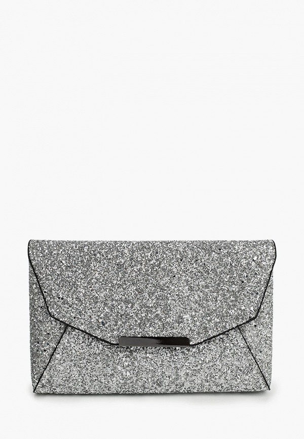 женский клатч bata, серебряный