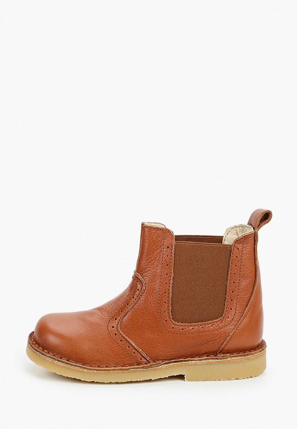 ботинки barritos для девочки, коричневые