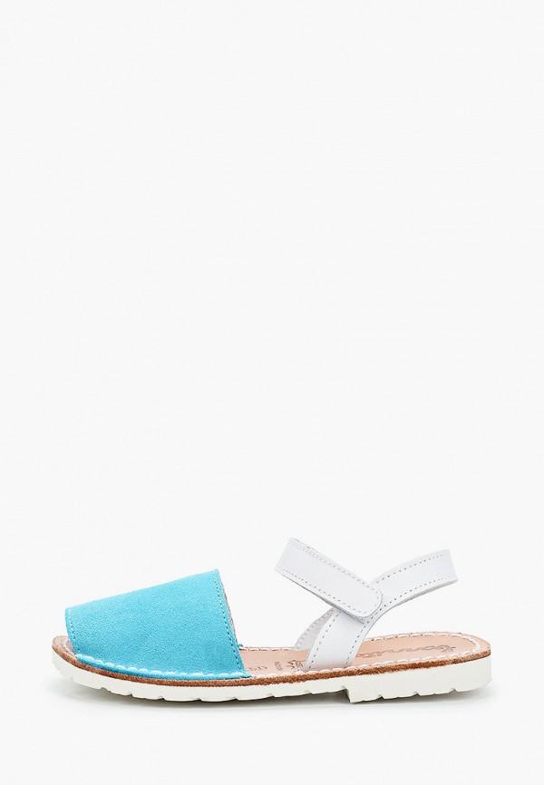 сандалии barritos для девочки, бирюзовые