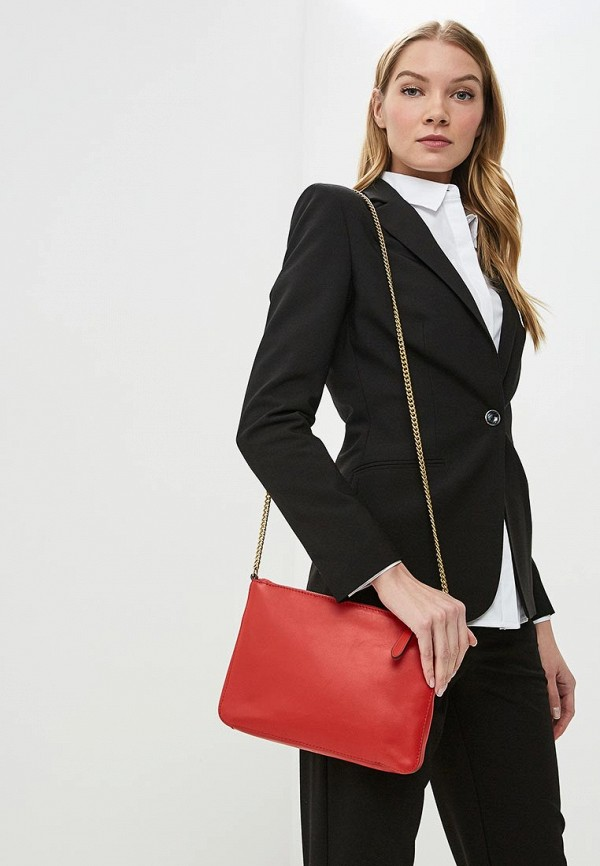 Фото 4 - женскую сумку Banana Republic красного цвета