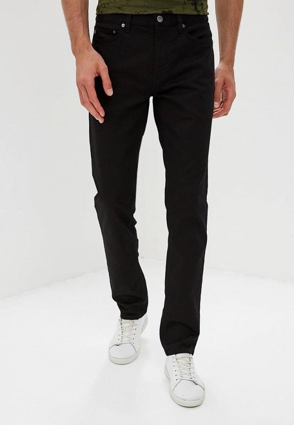 мужские зауженные брюки banana republic, черные