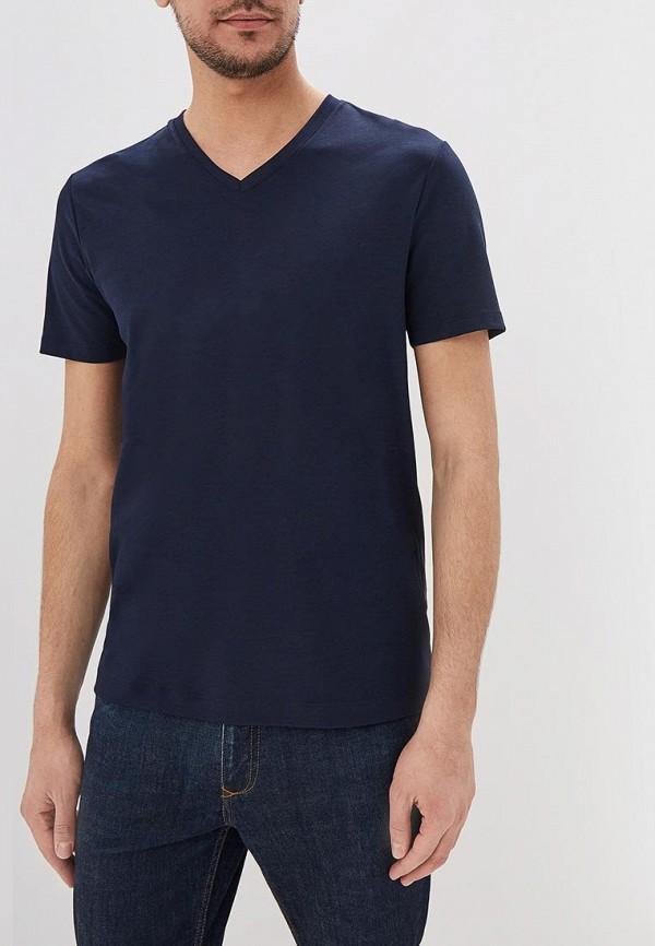 мужская футболка с коротким рукавом banana republic, синяя