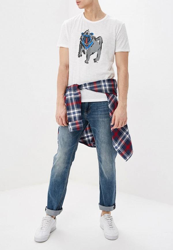 Фото 2 - мужские джинсы Banana Republic синего цвета