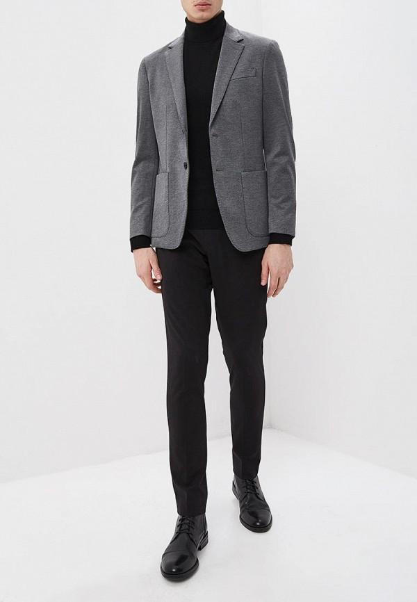 Фото 2 - мужской пиджак Banana Republic серого цвета