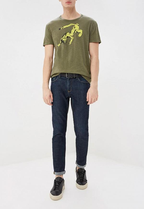 Фото 2 - мужскую футболку Banana Republic цвета хаки