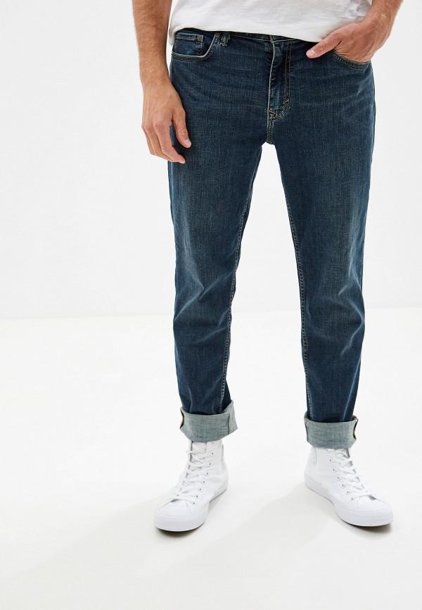 мужские зауженные джинсы banana republic, синие