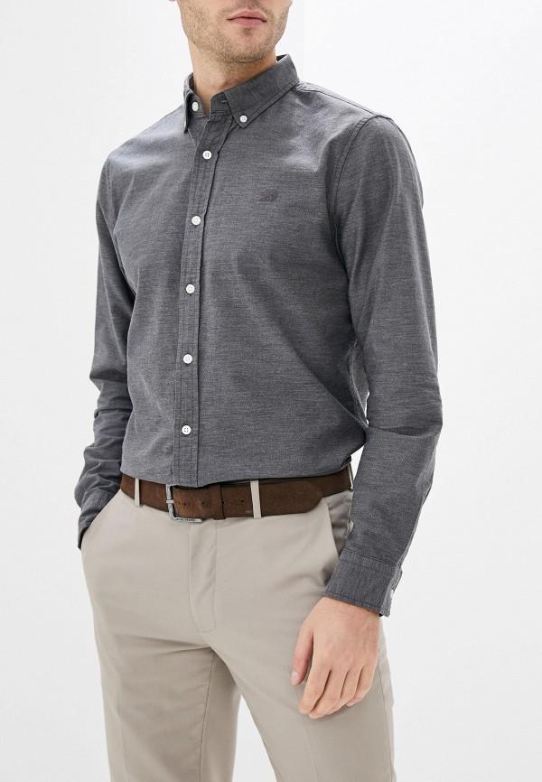 мужская рубашка с длинным рукавом banana republic, серая