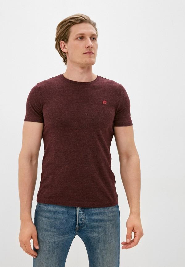 мужская футболка с коротким рукавом banana republic, бордовая