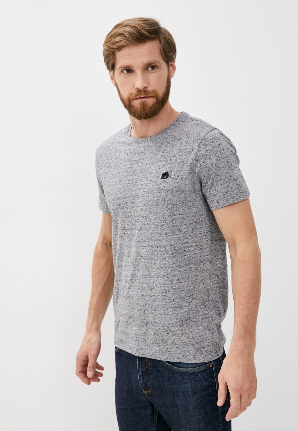 мужская футболка с коротким рукавом banana republic, серая