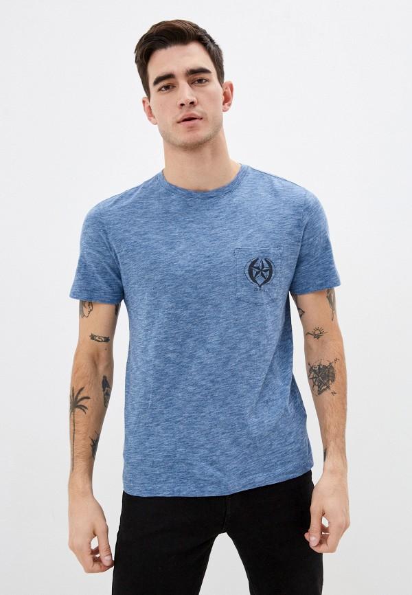 мужская футболка с коротким рукавом banana republic, голубая