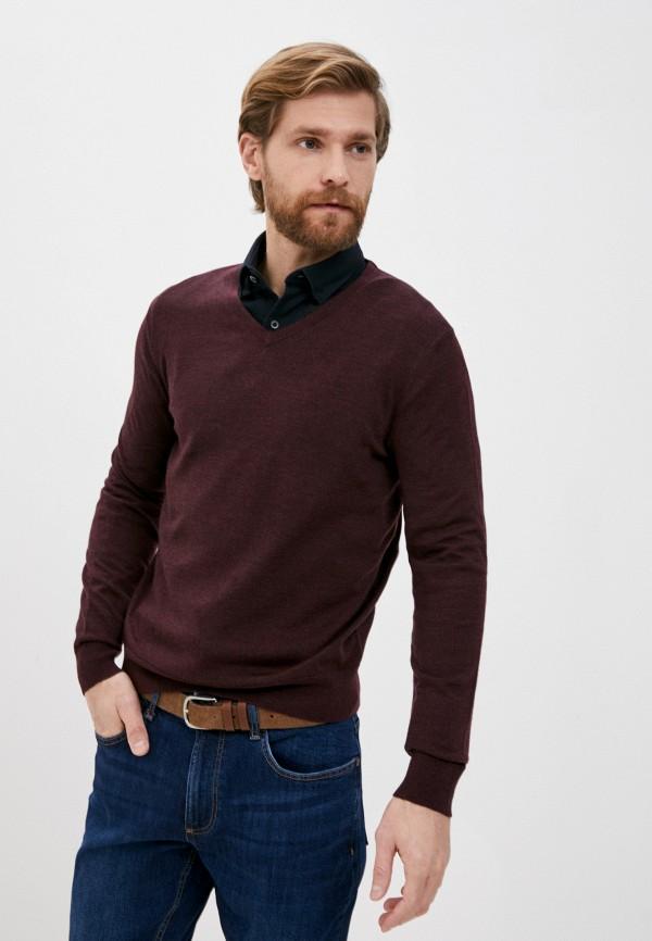 мужской пуловер banana republic, бордовый