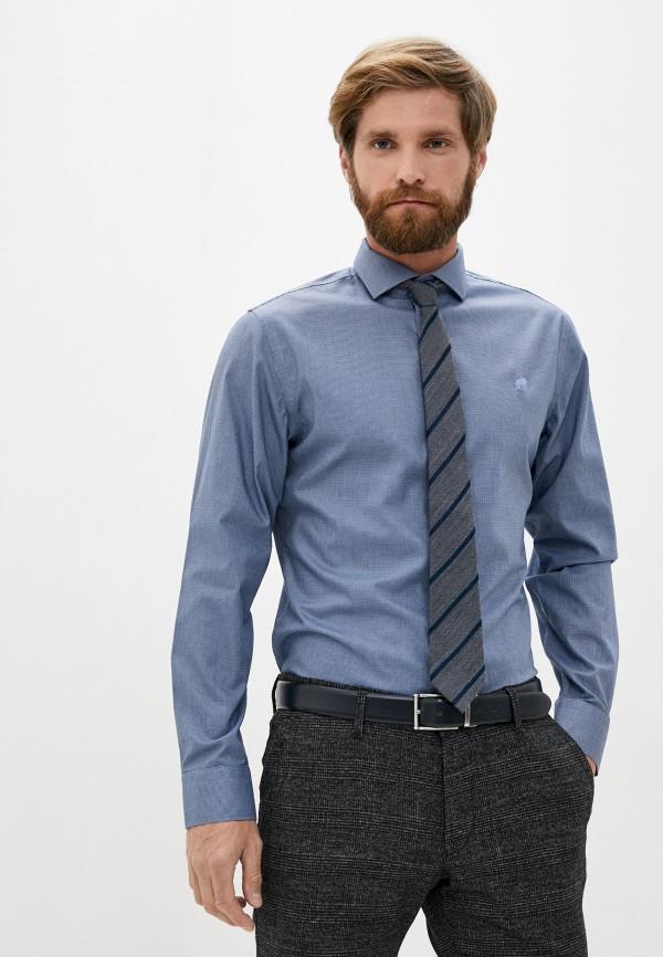 мужская рубашка с длинным рукавом banana republic, синяя