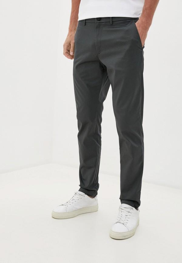 мужские зауженные брюки banana republic, серые
