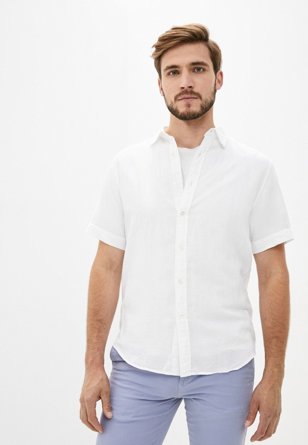 мужская рубашка с коротким рукавом banana republic, белая