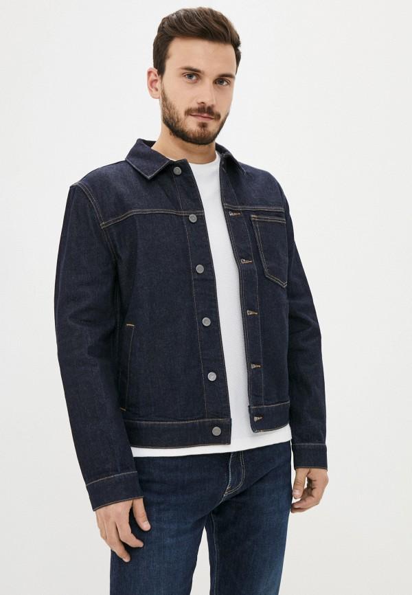 мужская джинсовые куртка banana republic, синяя