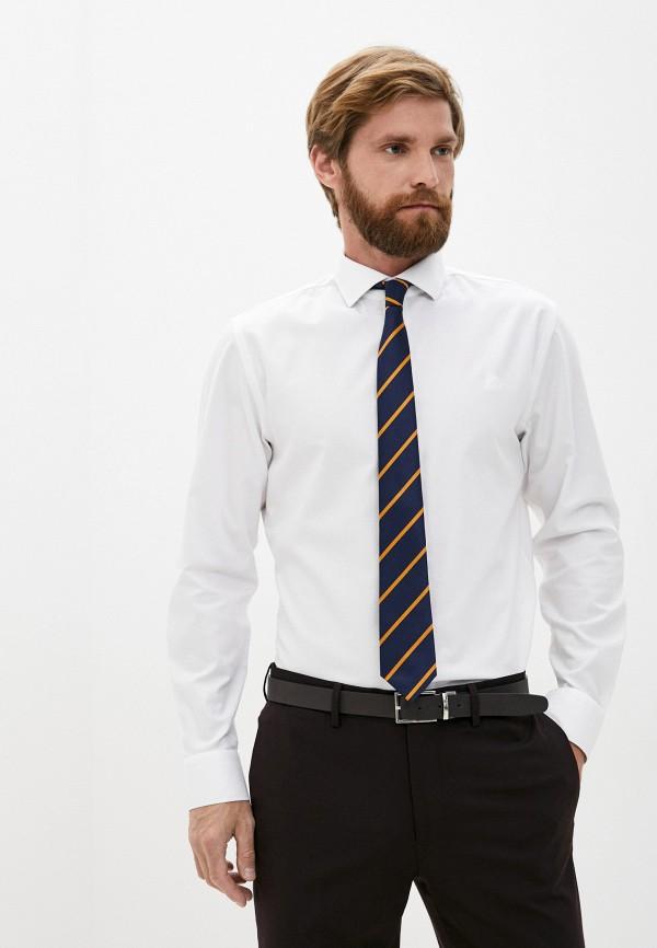 мужская рубашка с длинным рукавом banana republic, белая