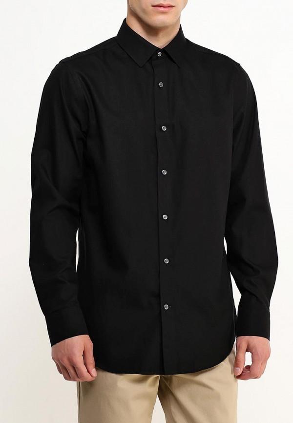 мужская рубашка с длинным рукавом banana republic, черная